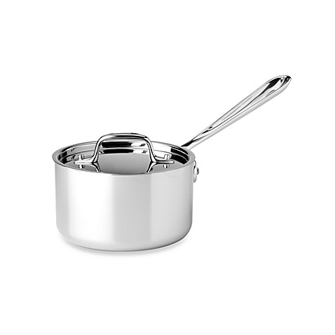 All-Clad Stainless Steel 1 1/2-Quart Covered Saucepan