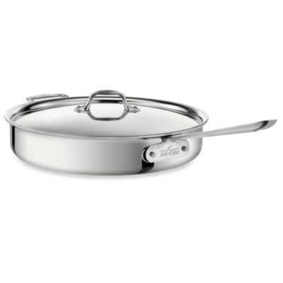 All-Clad Stainless Steel 6-Quart Covered Saute Pan
