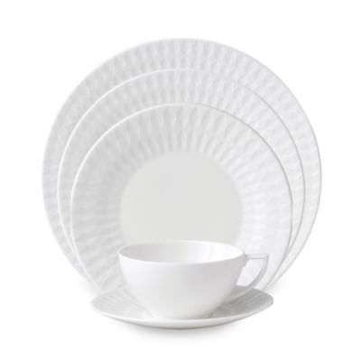 Wedgwood® Jasper Conran Diamond Embossed 5-Piece Place Setting
