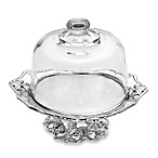 Arthur Court Designs Fleur-De-Lis Footed Cake Plate with Glass Dome