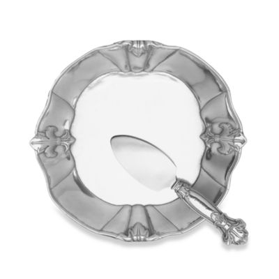 Arthur Court Designs Fleur-De-Lis Plate with Server