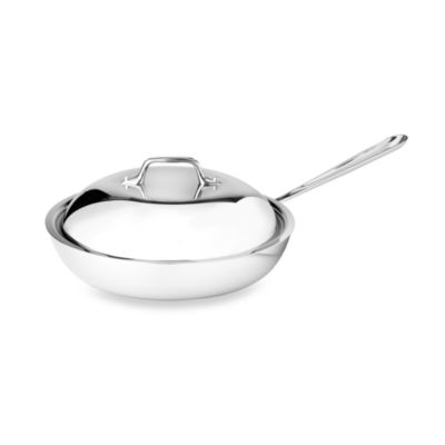 Stainless Steel 9 Covered French Skillet
