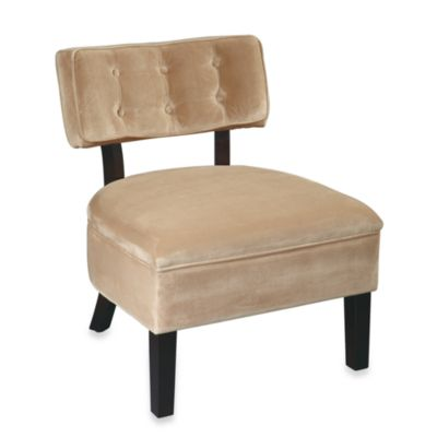 Avenue Six Curves Button Chair in Coffee