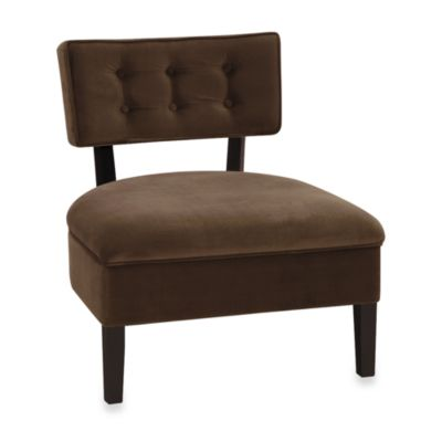 Avenue Six Curves Button Chair in Chocolate