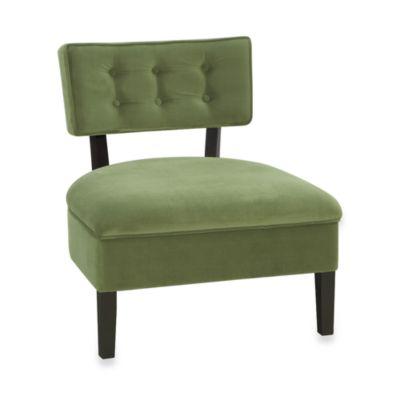 Avenue Six Curves Button Chair in Spring Green