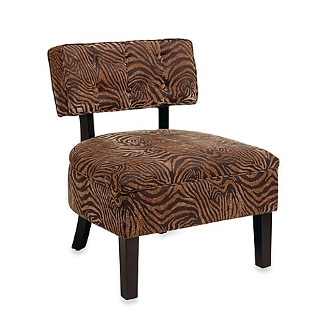 Avenue Six Curves Button Chair in Wild Espresso