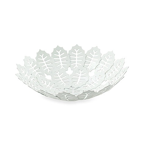 notNeutral® Small White Metal Season Leaf Bowl