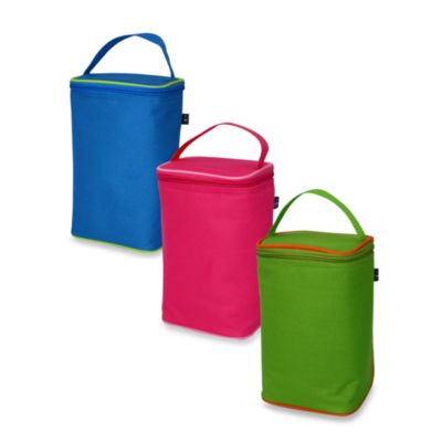 2-Bottle Green Insulated Tote