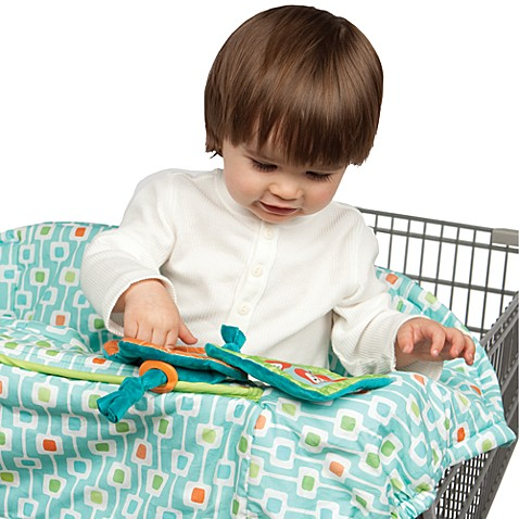 The Boppy® Protect Me Shopping Cart Cover in Deco Stripe