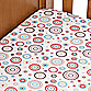 Caden Lane® Classic Collection Crib Sheet in Red CIrcle