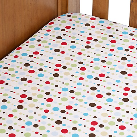 Caden Lane® Classic Collection Crib Sheet in Red Dot