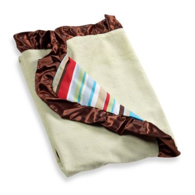Brown Crib Blanket