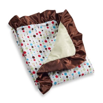 Caden Lane® Classic Collection Blanket in Red Dot Line Ruffle