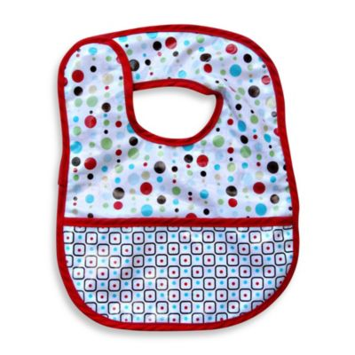 Caden Lane Classic Collection Coated Bib in Red Dot Line