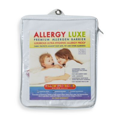 Sealy Naturals Crib Mattress Pad Baby Bedding > Allergy Luxe® Bed Bug Pillow Protector
