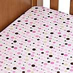 Caden Lane® Fitted Sheet in Pink Dot