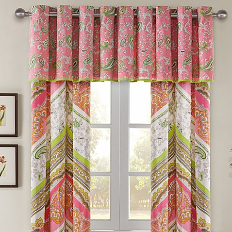 Echo Design Gramercy Paisley Tailored Window Valance