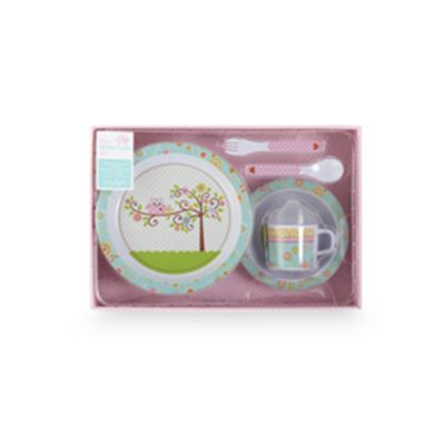 C.R. Gibson Happy Girl Melamine Dinnerware Set