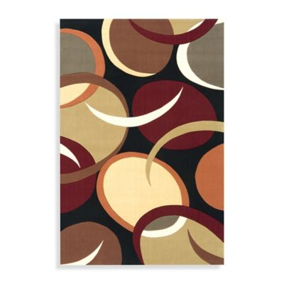 Momeni Elements 5-Foot x 8-Foot Rug in Black