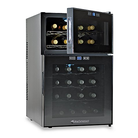 Wine Enthusiast Silent 24-Bottle Dual Zone Touchscreen Wine Refrigerator