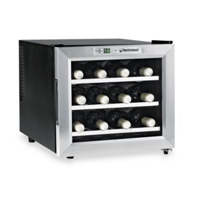 Wine Enthusiast Silent 12-Bottle Wine Refrigerator with Stainless Steel Trim Door