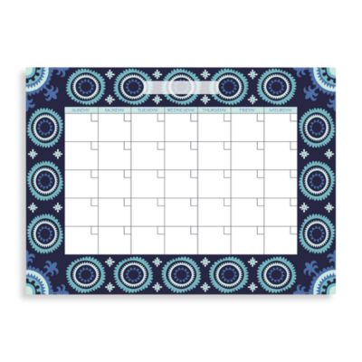 WallPops!® Malaya Monthly Dry Erase Calendar in Blue
