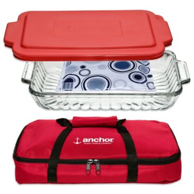 Anchor Hocking® 4-Piece Sculpted Bakeware Set