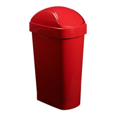 Umbra® Flippa Trash Can in Red