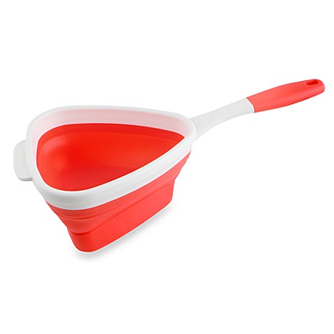 Dexas® POPware™ Collapsible Triangle Strainer - Red
