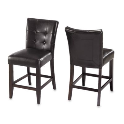 Belicca Counter Height Stools in Black (Set of 2)