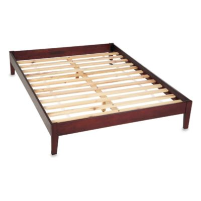 Novela King Platform Bed in Cordovan