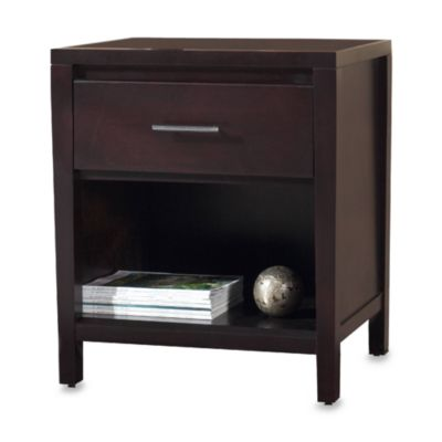 Navett Espresso One-Drawer Nightstand