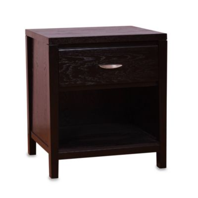 Urbani Chocolate Brown One-Drawer Nightstand