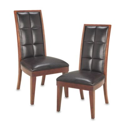 Helayna Mocha Biscuit Back Side Chairs (Set of 2)