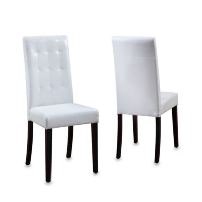 Urbani Tufted Back White Chairs (Set of 2)