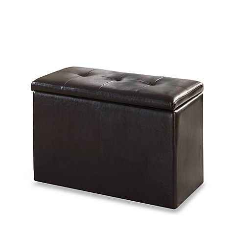 Urbani Chocolate Faux Leather 3-in-1 Storage Bench