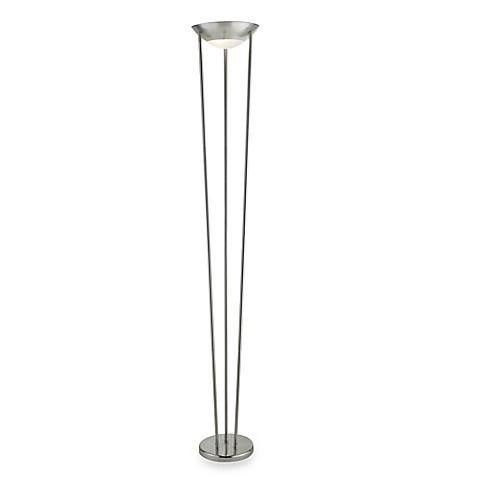 Adessor odyssey tall floor lamp in satin nickel bed bath for 7 foot tall floor lamp