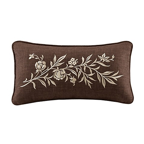 Caymus Embroidered Oblong Pillow