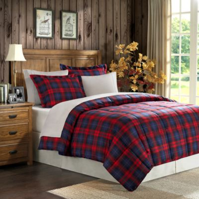 Full Plaid Comforter Set Plaid