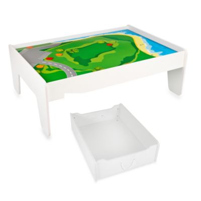 KidKraft® White Train Table and Train Trundle Drawers