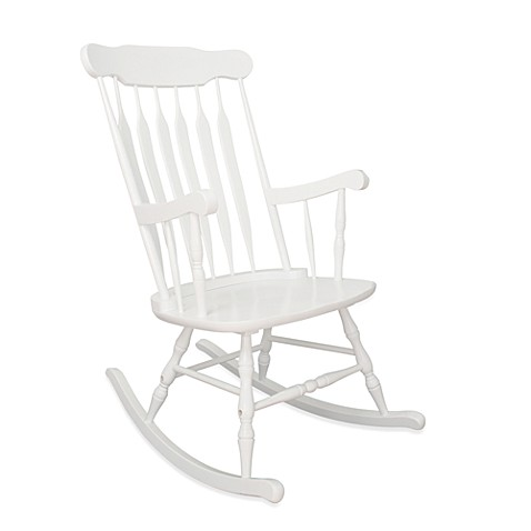kidkraft adult rocking chair in white bed bath beyond