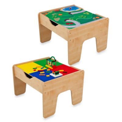 KidKraft® 2-in-1 Activity Table with Board in Natural