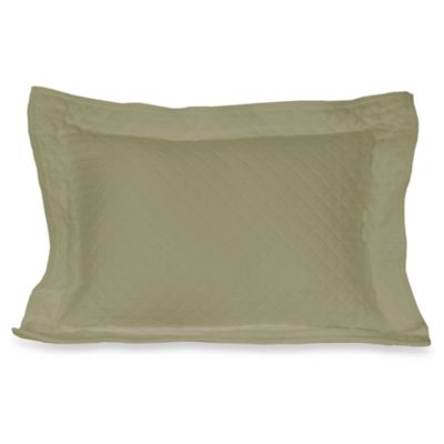 Diamante Matelasse Boudoir Pillow in Sage