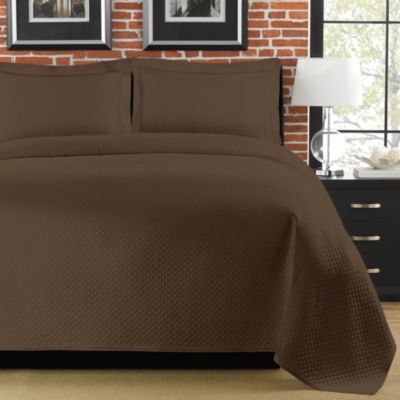 Diamante Matelasse Standard Sham in Brown