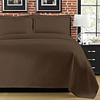 Diamante Matelasse Coverlet in Brown