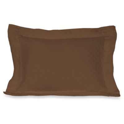 Diamante Matelasse Boudoir Pillow in Brown