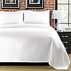 Diamante Matelasse Standard Sham in White