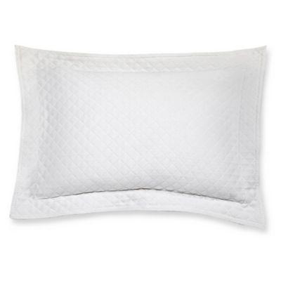 Diamante Matelasse Boudoir Pillow in White