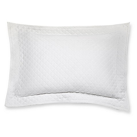 Diamante Matelasse Boudoir Pillow in White