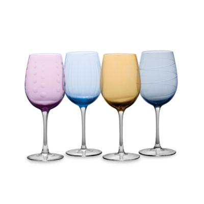 Mikasa® Cheers Color 16-Ounce Wine White Goblets (Set of 4)
